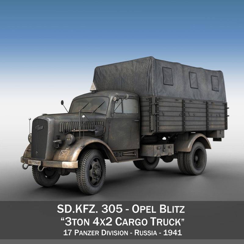 3d sd - 3t opel blitz model