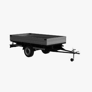 3d model transport trailer