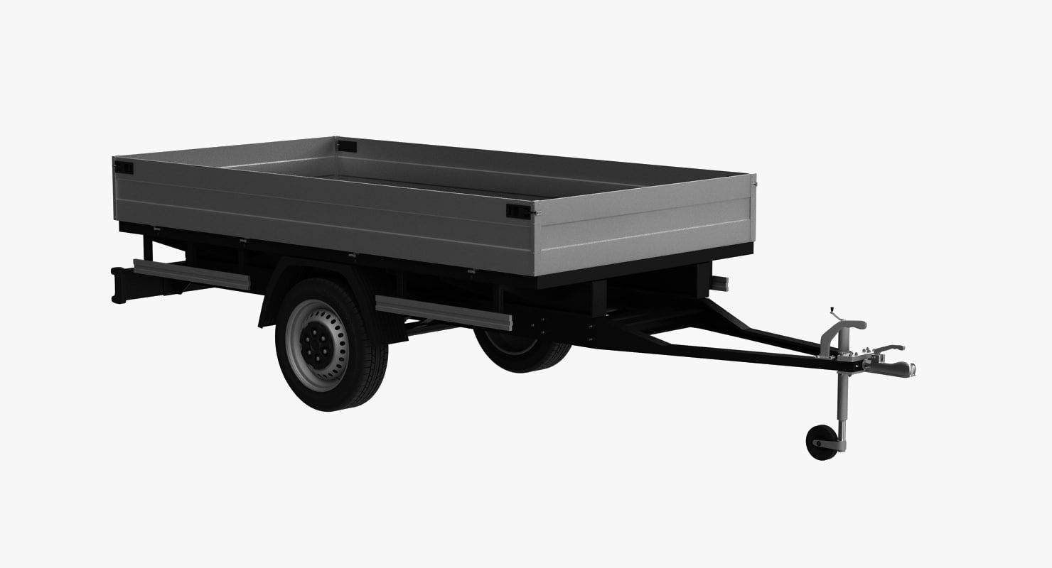 3d model transport trailer