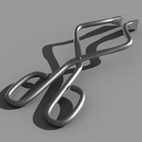 3d model tongs chemistry medicine