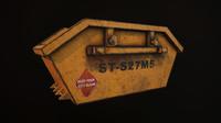 3d model dumpster prop industrial