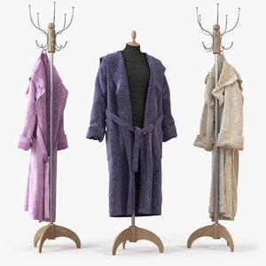 bathrobe bath 3d model