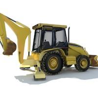 3d hoe tractor model