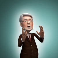 3d politician rigged animation model