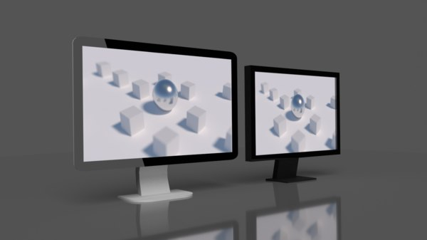 free pc monitor 3d model