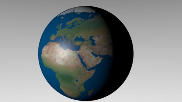 earth 8k obj