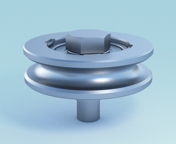 3d model of guiding wheel bearing