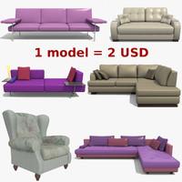 3d golf sofa model