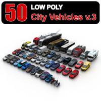 3d city vehicles 3