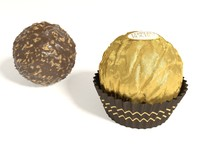 3d model of ferrero rocher