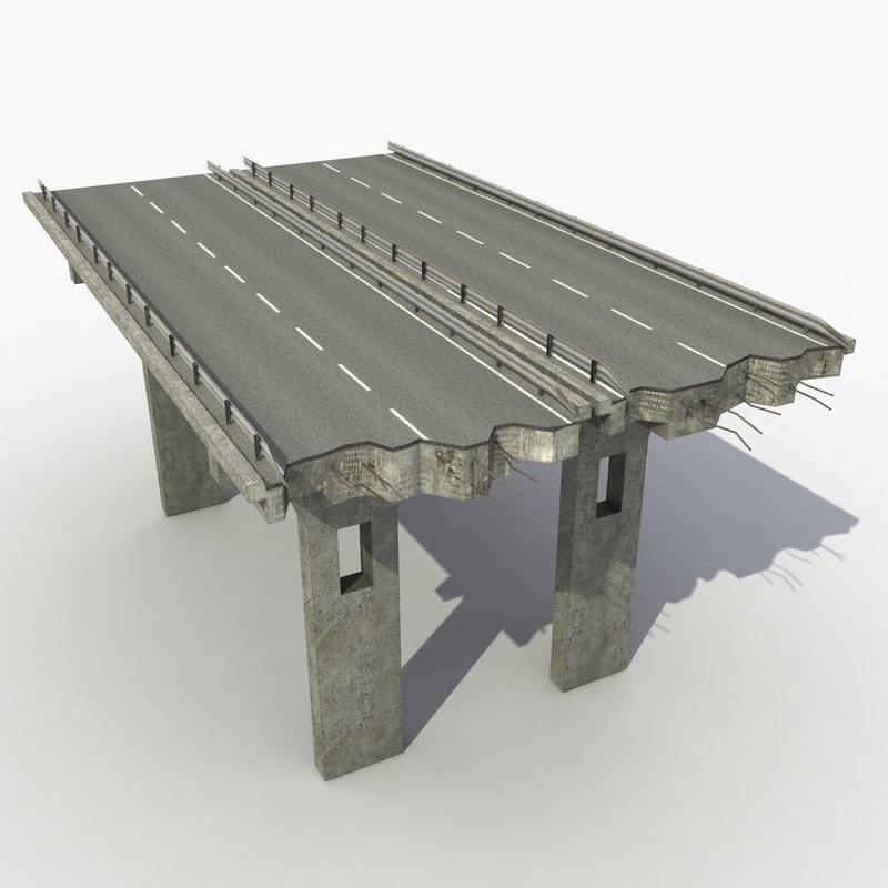 modeled highway 3d model