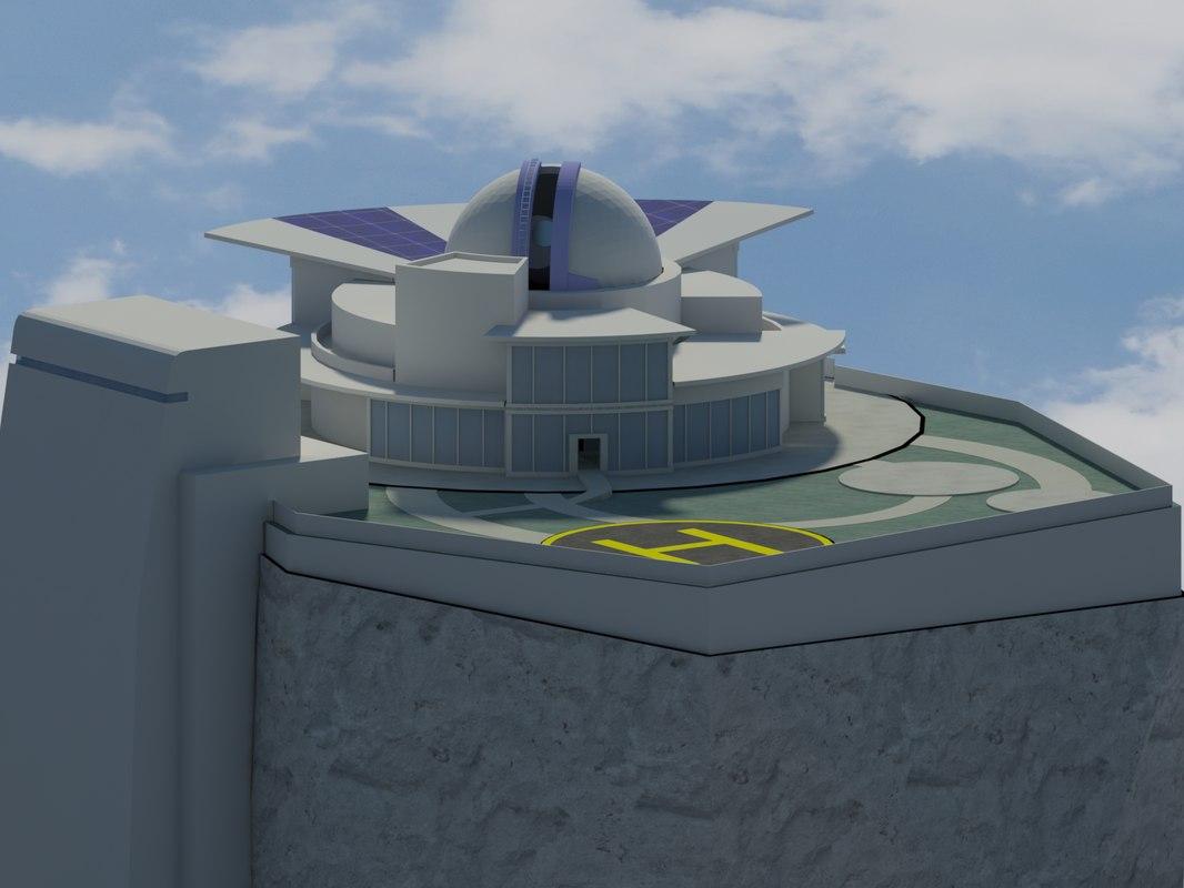3d observatory model