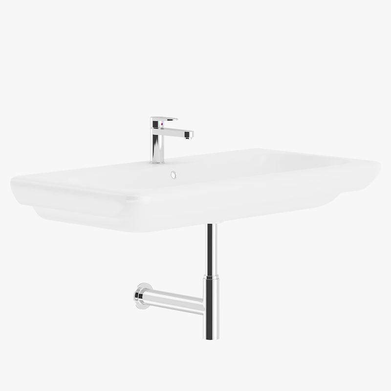 white rectangular washbasin max