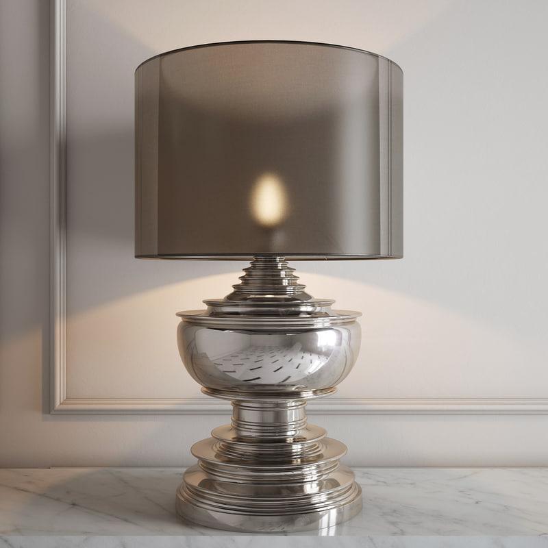 eichholtz table lamp pagoda 3d obj