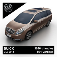 2014 buick gl8 3d model