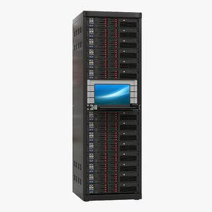 servers rack 3 3d model