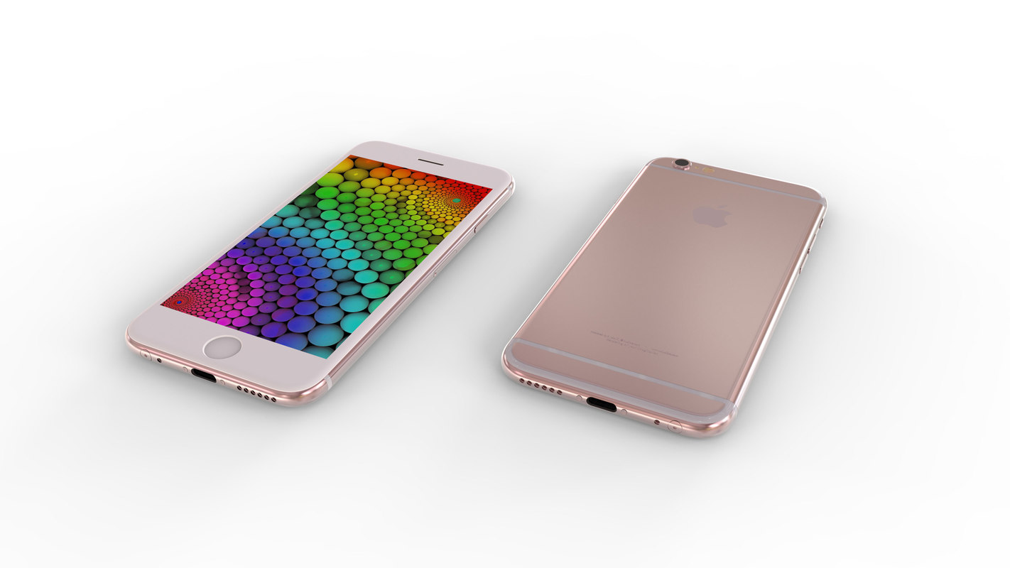 3d model apple phone 6s -