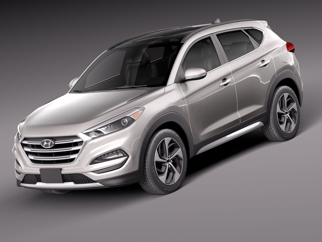 2016 hyundai tucson 3d model