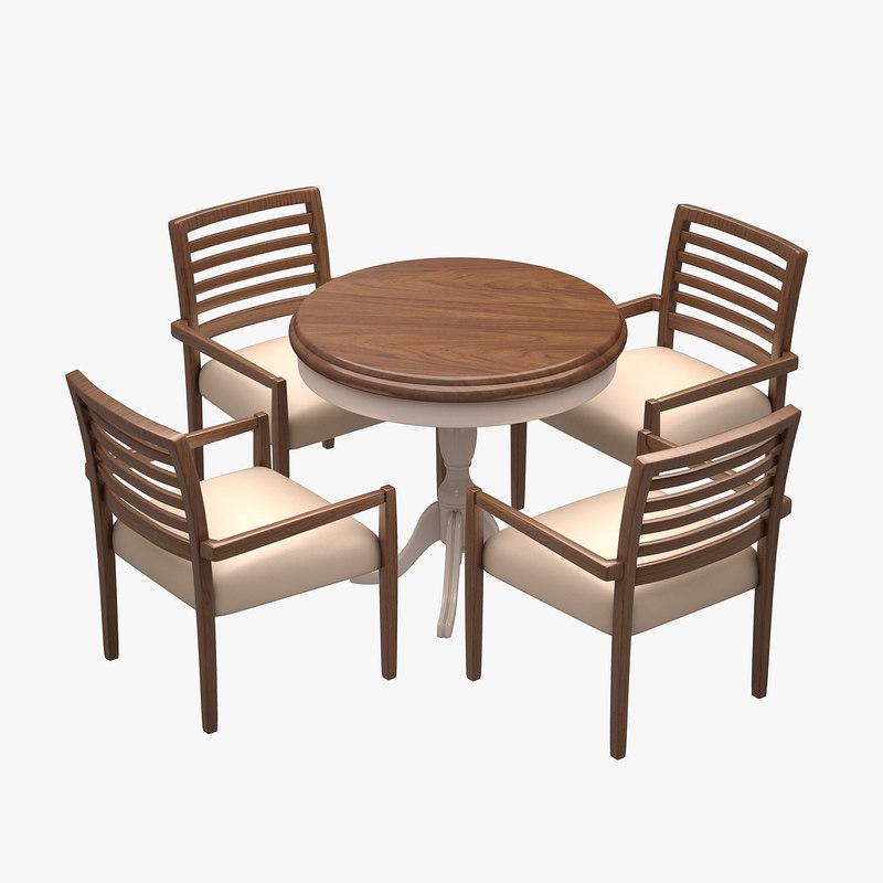 cafe dinner set 3d model
