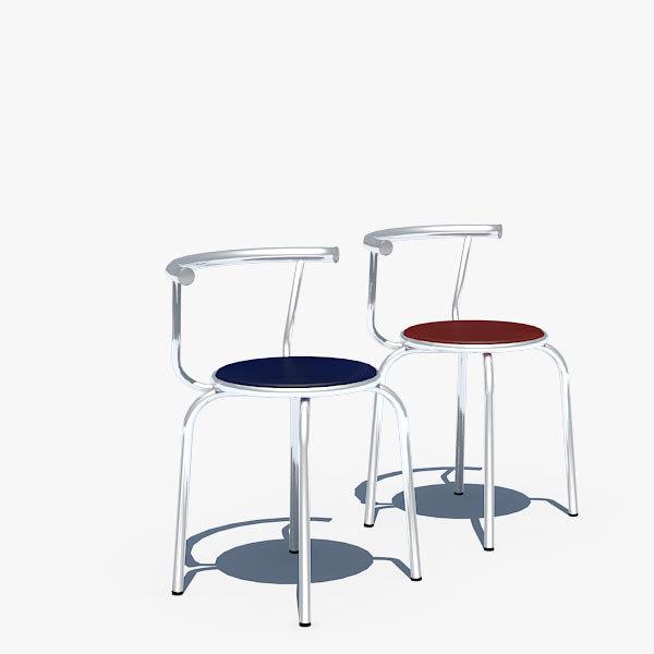 chair chrome interior 3d model