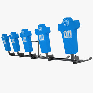 football dummy training 3d model
