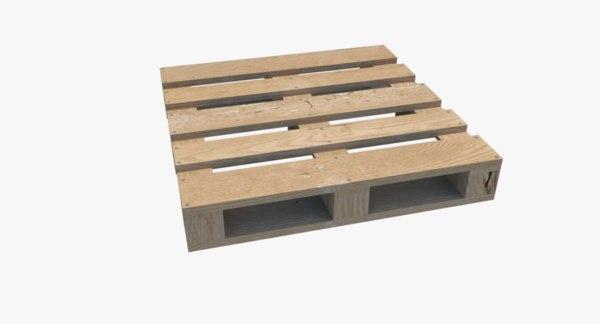 3d wooden pallet
