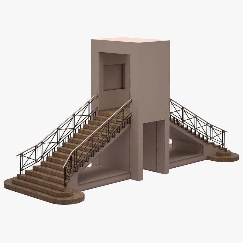 house hall 3d model