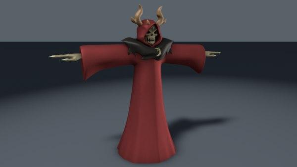 horned king 3d c4d