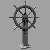3d realistic ship wheel