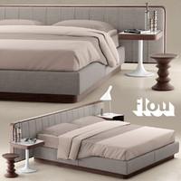 3d bed flou letto