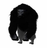 Black Gorilla HiPoly