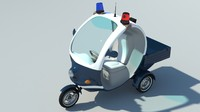 electrocar police 3d x