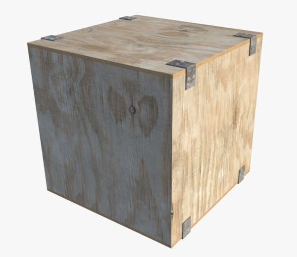 wooden box 3d obj