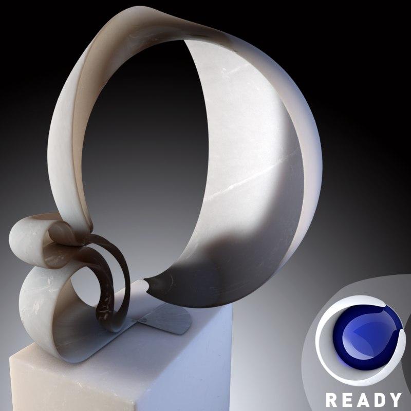 realistic modern art sculpture 3ds