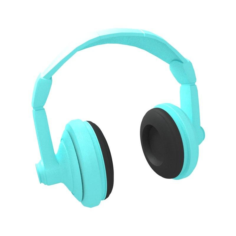 headphones 3d obj