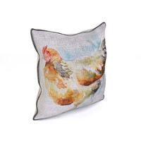 Voyage Cushion - Chicken (Piped Pillow)
