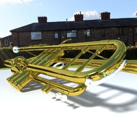 modeled trumpet 3d model