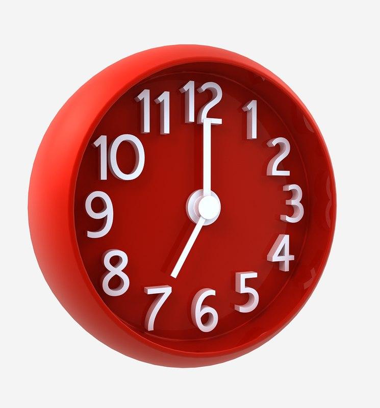 max clock red