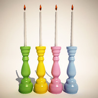 candle holder pastel fusil 3d model