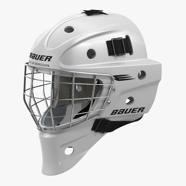 3d hockey goalie mask bauer