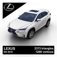 2015 lexus nx suv 3d max