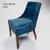 coco dining chair 3d obj