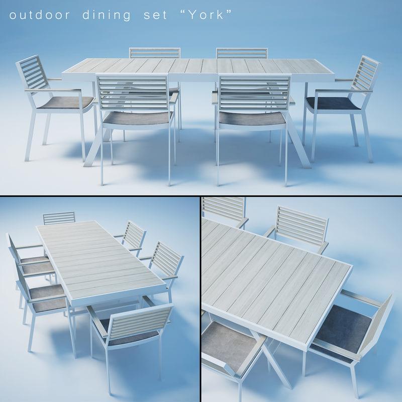 york dining set 3d max