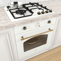 3d stove cooktop pans