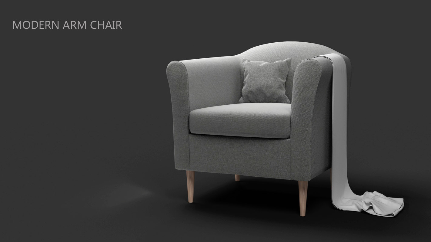 modern armchair realistic 3d model