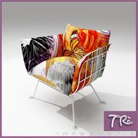 chair nest moooi 3d max