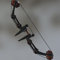 dieselpunk bow 3d model