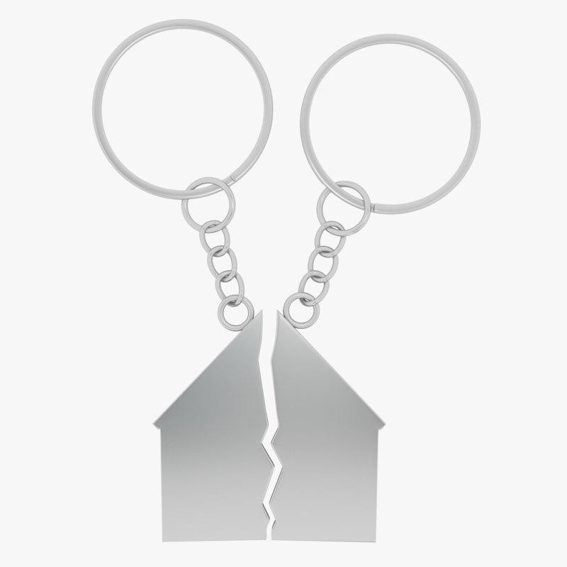 keychain house key 3d max