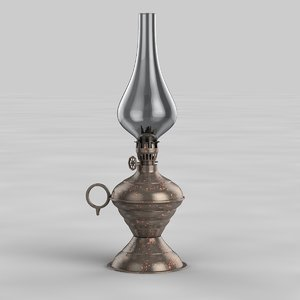 3d antique oil lamp model