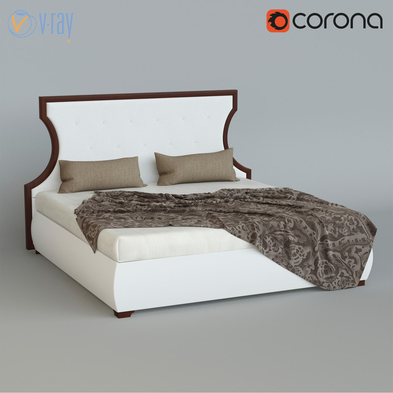 3d model bed letto royale
